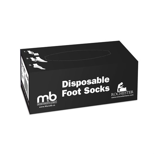 DISPOSABLE NYLON TRY-ON SOCKS - ASSORTED COLOURS AND SIZES