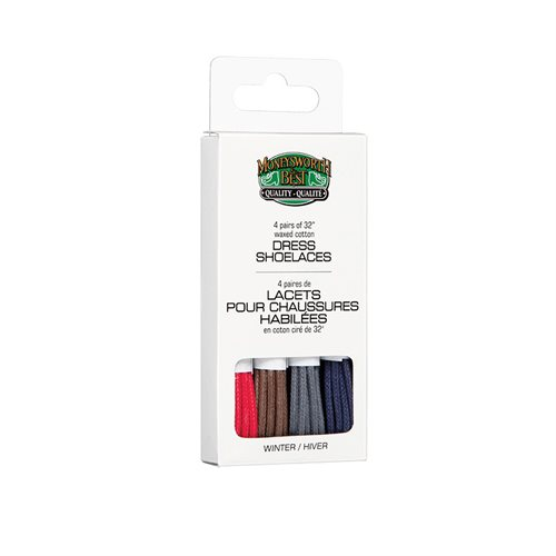 DRESS WAXED LACES 4 PK - WINTER