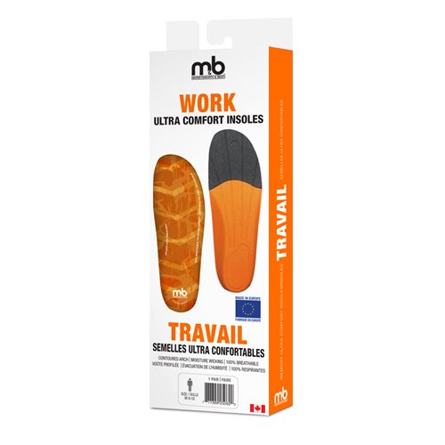WORK ULTRA COMFORT INSOLES - ASSORTED SIZES