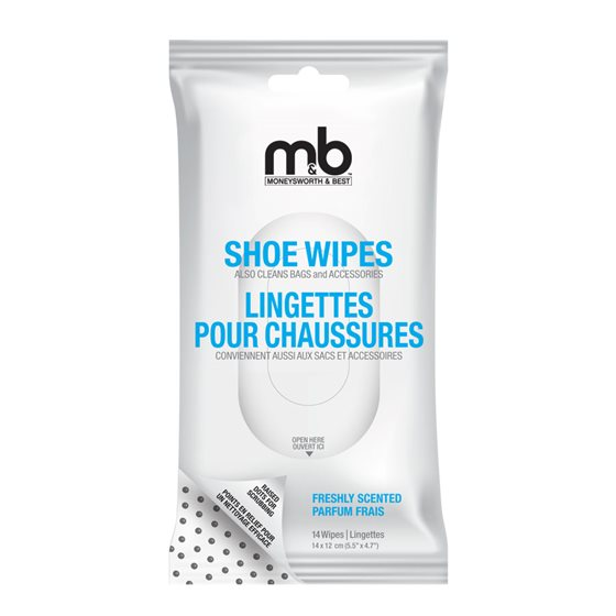 SHOE WIPES - 14 / PACK