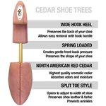 CEDAR SHOE TREES - SPLIT TOE WITH HOOK HEEL MEN'S- ASSORTED SIZES
