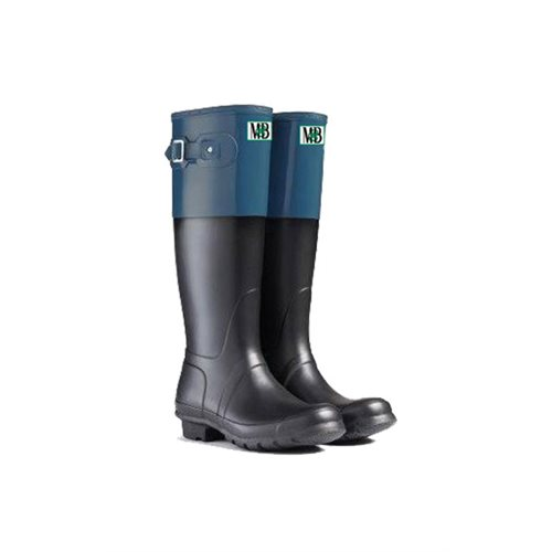 RUBBER BOOTS W LONG BLU / BLK 5